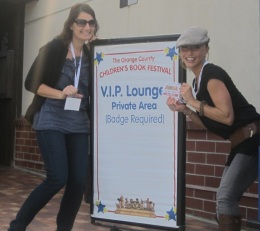 Co-authors Lynette and Victoria attending the Orange County Book Festival.