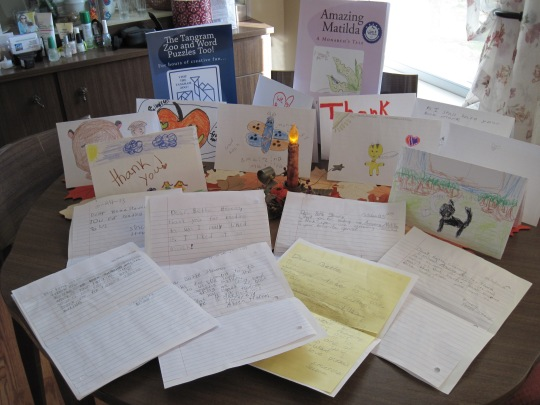 Letters from fourth grade fans in Hartland, Maine. ~ MAINE Author/Illustrator Bette A. Stevens