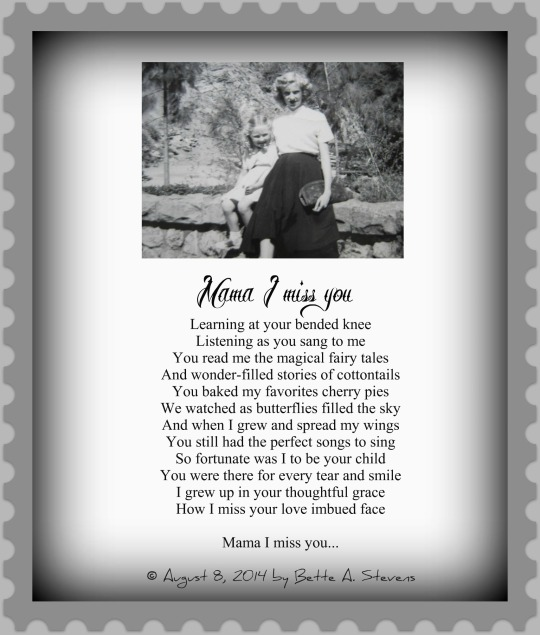 MAMA I Miss you POEM