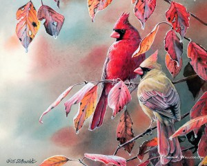 """""""Songbirds"""" Painting by Susan Bourdet From wallcoo.com"""