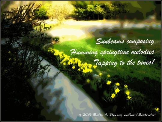 Sunbeam composing HAIKU bas 2015