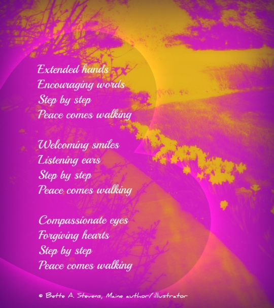 Peace Comes Walking POEM bas 2015
