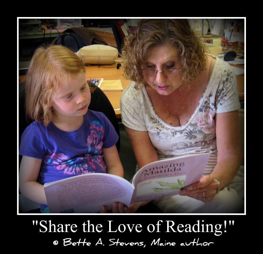 SHARE THE LOVE OF READING Bette Reading with Sam 2017