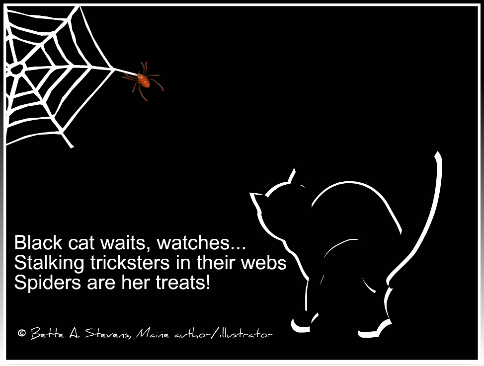 Black Cat HALLOWEEN Haiku BAS 2019